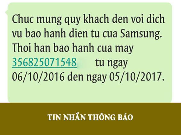 Tin nhắn thông báo