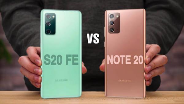 Hai sản phẩm Galaxy Note 20 và Galaxy S20 FE