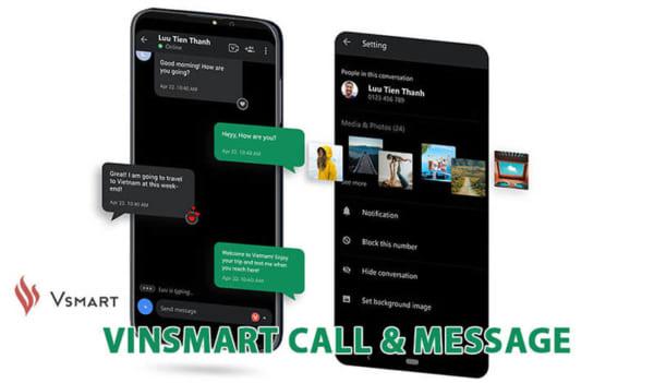 điện thoại Vsmart có thể nghe gọi và nhắn tin cho nhau miễn phí