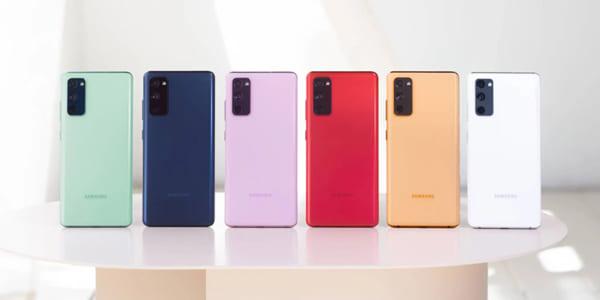 Samsung S20 FE nhiều màu sắc để lựa chọn