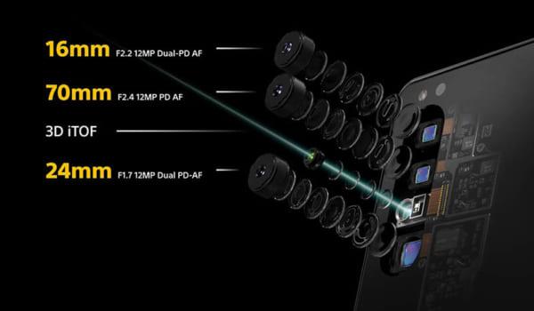 Bộ 3 Camera Cùng Ống Kính Máy Ảnh Zeiss Tích Hợp
