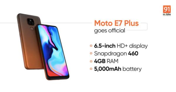 Motorola đã cung cấp cho E7 Plus chip Snapdragon 460 mới