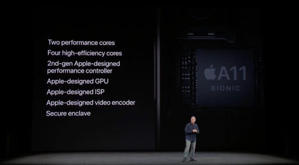 Apple đã trang bị CPU A11 Bionic với 6 nhân xử lý