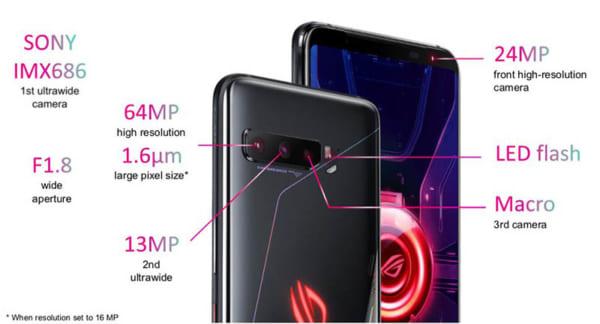 Mặt sau của điện thoại là nơi chứa ba cảm biến camera.
