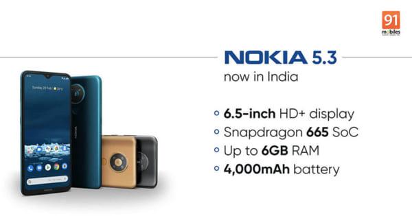 Nokia 5.3 có bộ vi xử lý Qualcomm Snapdragon 665