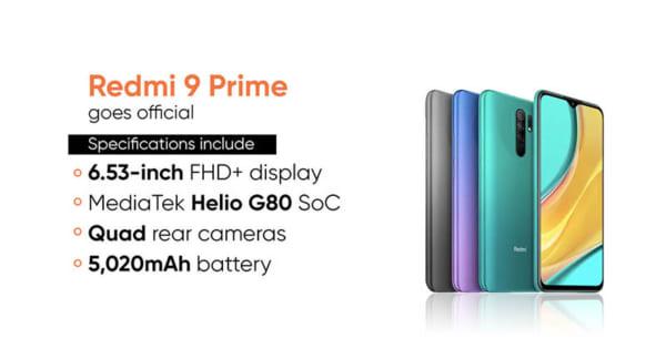 Cung cấp sức mạnh cho Redmi 9 Prime là CPU MediaTek Helio G80