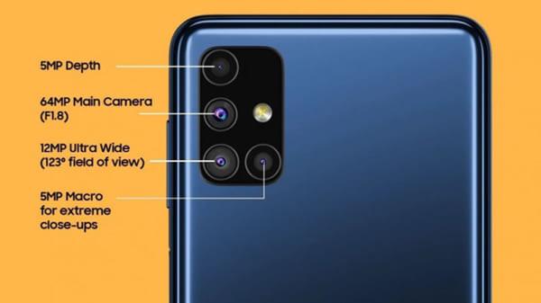 Samsung Galaxy M51 có bốn camera ở phía sau